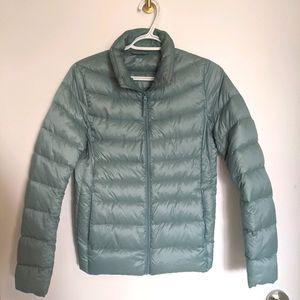 Uniqlo Heattech Jacket Light Blue SZ Small